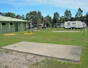 Caravan owners have not been forgotten at Toorbul as there are plenty of concrete pads available.