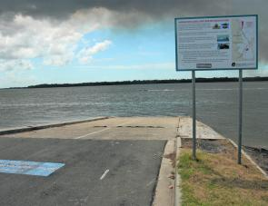 There's easy launching at the Toorbul boat ramp yet quite a few anglers like to fish from it as well.