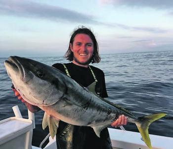 Brenden Gilles looks pretty pleased with this solid South Coast kingfish.