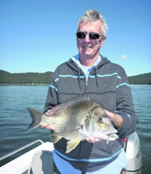 "Carl managed this ripper bream on a 5"" plastic while targeting jewfish."