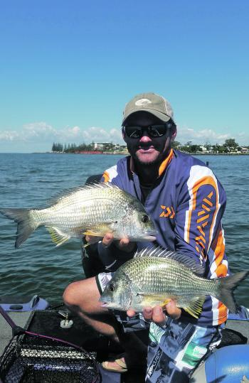 Mick Thompson with some healthy bream.