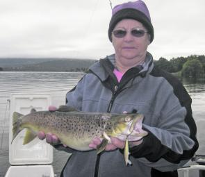 Eleanor Kinkade bagged this top brown trout on a brown trout pattern Rapala.