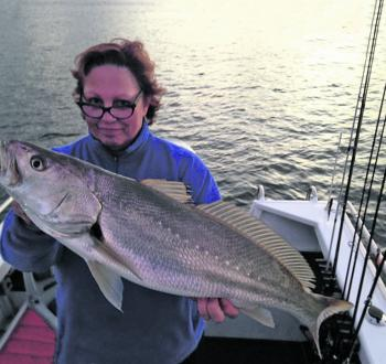 Lynne Neville with an average size Shoalhaven River mulloway.