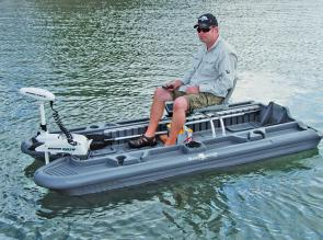 The Bass Hunter hits nearly 3 knots with the 55lb iPilot.