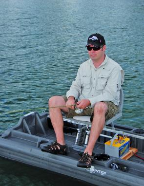 Seated, you can fish from any position you like – feet-on-the-gunwale is a favourite.