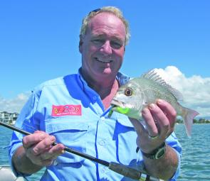 Snapper, such as this one, will be attracted to new scents and life-like soft plastics.