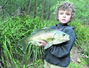 Joshua Smith, of Coopernook, was braining 50cm-plus bass before the big wet.