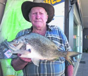 John Brewer with a Harrington breakwall bream that weighed 1.3kg.