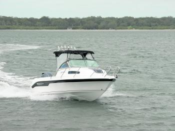 Good hull design sees the Baysports 600 travelling at speed with very little wash or fuss in far from smooth conditions.
