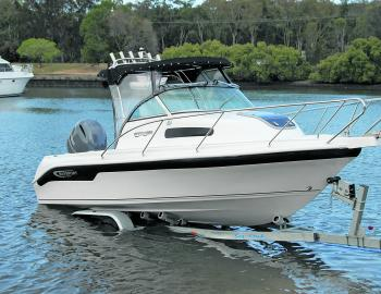 Sensibly packaged with a tandem Sea Link trailer, the Baysports 600 Offshore is a sell set up all-rounder able to be towed by most family sedans or wagons.