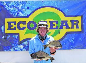 Daniel Brady from Team Evolution Boats displays the 1.14kg Eco-Gear Big Bream that helped secure his team second place.