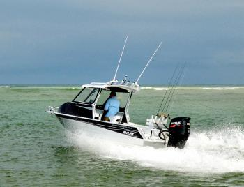 The Suzuki 140hp 4-stroke and the 591 were perfectly matched.