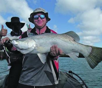 Big barra can be caught in the estuaries this month.
