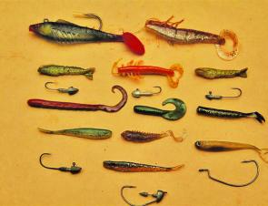 Plastics work well for natives on Eildon – just make sure you have a wide selection of head weights and styles.