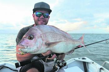 This 61cm snapper was caught on a 40mm hardbody cast tight against structure.