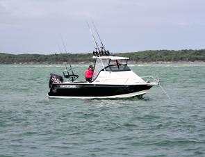 Perfect at rest – the Quickflow hull design allows for a water ballast system to fill and improve stability at rest.