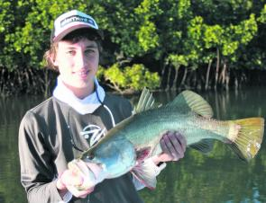 Changing your lures for barra in winter can pay dividends as Jordan Agapiou can attest.