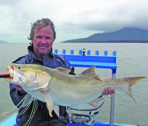 Bad weather didn't deter Graham Phillips from catching this 125cm fish of a lifetime.