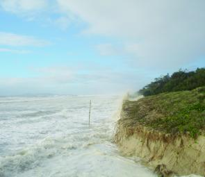 In summer when there is a low pressure system around the beaches get a thrashing.