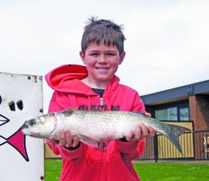 Young local Billy Olver with his 1.8kg mullet.