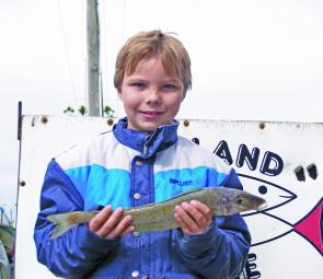 Young star Lachie Goldby with his whiting caught of the north shore.