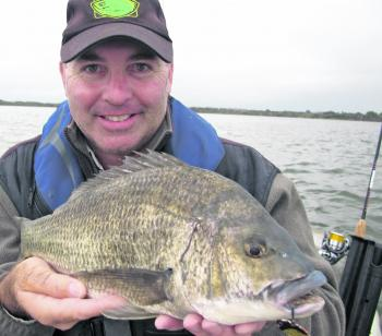Tony Pettie whispers up another stud bream using a Hurricane camo crab blade.
