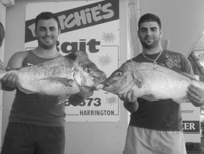 These lads had never fished for snapper with soft plastics before but these reds of 6kg and 7kg have converted them.