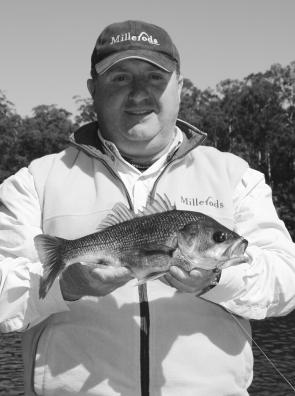 Craig Johnson of Berry with a 41 cm bass from the Shoalhaven River that grabbed a Berkley Gulp.