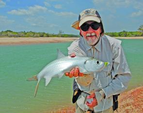 Tarpon on a toad fly. Dave Donald did the honours here.