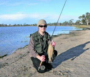 An average size Natimuk lake rainbow taken on a Mrs Simpson.