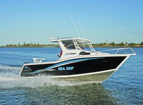 Check out the clean lines and racy appearance of the Sea Jay 6.8m Pursuit.
