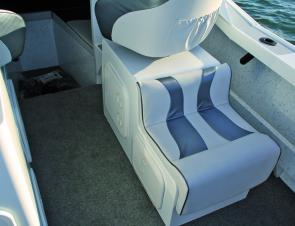 Deluxe seats provide a comfortable ride and also contain extra storage.