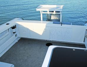 The Sea Jay Pursuit has ample deck space. That's a lot of usable fishing room there.