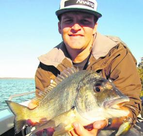 You can expect bream like this around the Bay Islands through winter. This fish was 39cm to the fork.