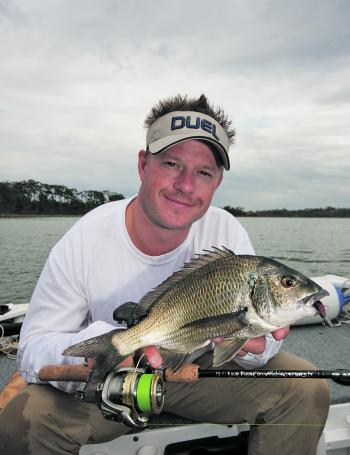 Bream are abundant throughout Lake Tyers and are a willing lure taker.