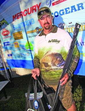 Scott Sutherland claimed the non-boater title at the Clarence fishing his first ABT BREAM event.