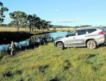 The Pajero Sport is great in the bush, making easy work of a run to a cod hole.