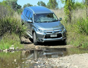 Plenty of ground clearance and a sensible approach angle give the Pajero Sport genuine off-road cred.