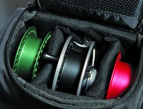 The Daiwa New Era reels come with a snazzy padded case that holds all of the goodies nice and snug and protected. Also makes you look like you know what you're doing!