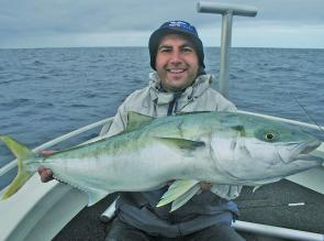 Nick Murrell with his tuna/kingfish double.