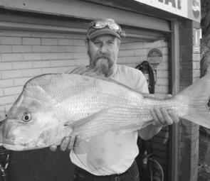 An awesome snapper caught out from Carrum. Most of the well-known marks are producing (photo: Trevor and Lynette Hogan).