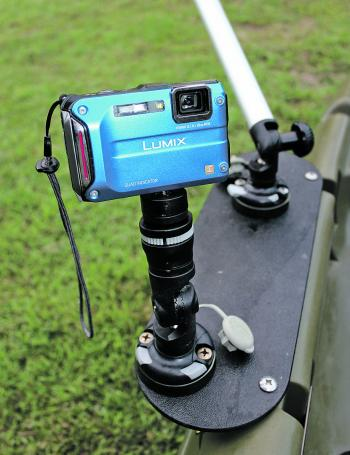 A camera mount (S) will allow you to capture much better images of you holding fish, with less chance of lost cameras or phones.