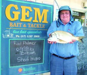 Rod Palmer used fresh bread to catch this Short Island bream.