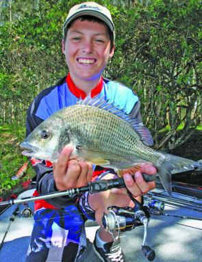 James Ison scored this bream up the Maria River on a diving crankbait.