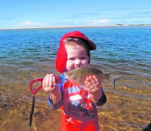 For the family all you need is a float, small hook and some bread and it's smiles all round. With a little sand and bread berley, it's possible to get bream, mullet, garfish, herring and even luderick.