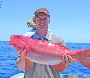 Sunshine Reef often delivers the goods – this sensational coral trout was caught there recently on a Trekka charter.