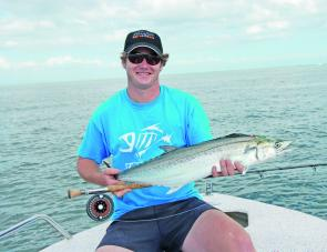 Scott Kampe with a typical Moreton Bay mackerel.