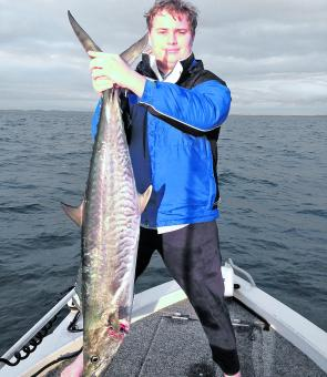 Peter pulled a great mackerel on a trip out the front.