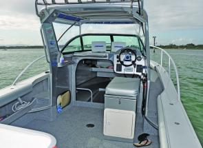 The cockpit is very fishable and there's more than adequate room to go forward in any sea.