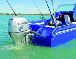 There's a quiet revolution here: the Honda 75hp is a powerful motor.